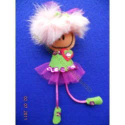 Broche de fieltro muñeca loca nº1