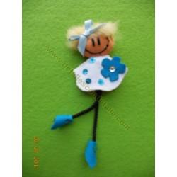Broche de fieltro muñeca loca nº 3