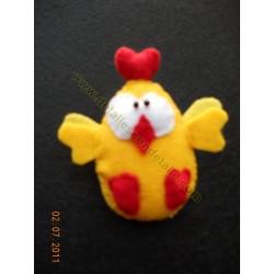 Broche de fieltro pollito