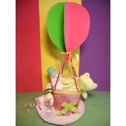 Tarta globo de colores